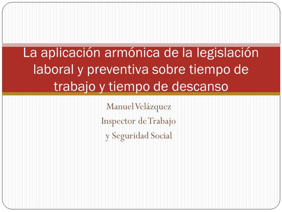 Manuel Velázquez Inspector de Trabajo y Seguridad Social