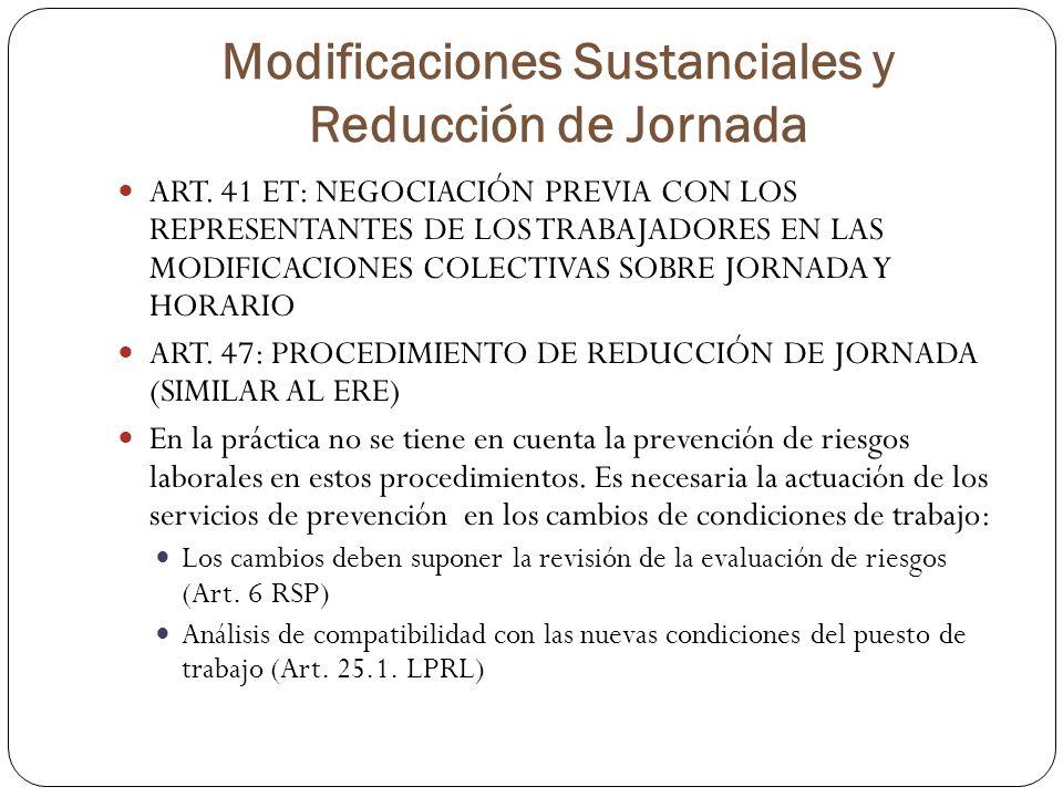 Modificaciones Sustanciales y Reducción de Jornada