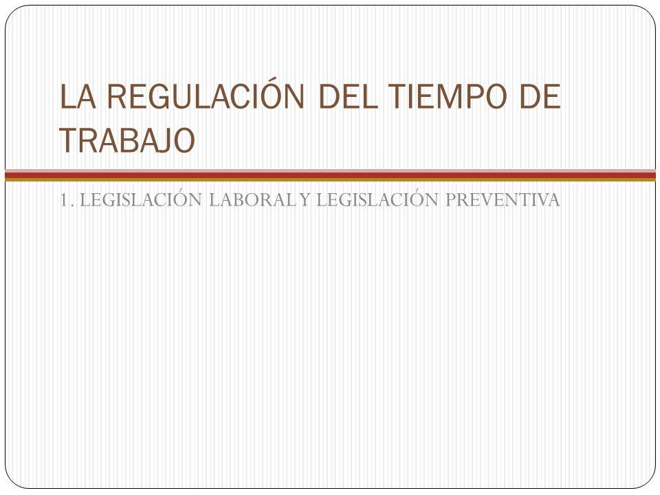 LA REGULACIÓN DEL TIEMPO DE TRABAJO