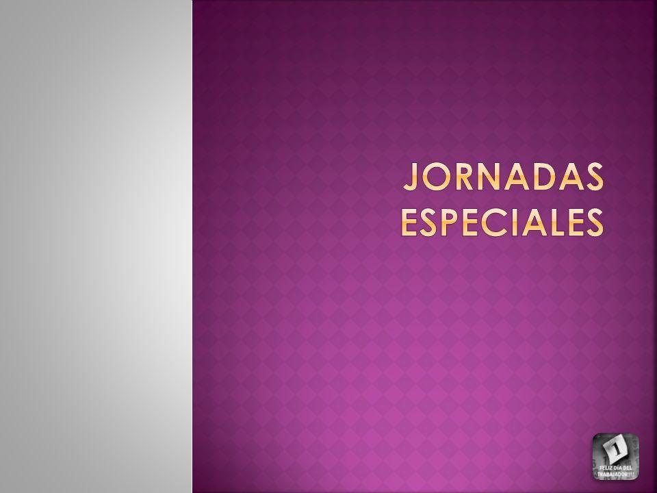 JORNADAS ESPECIALES