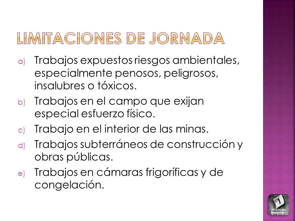 LIMITACIONES DE JORNADA