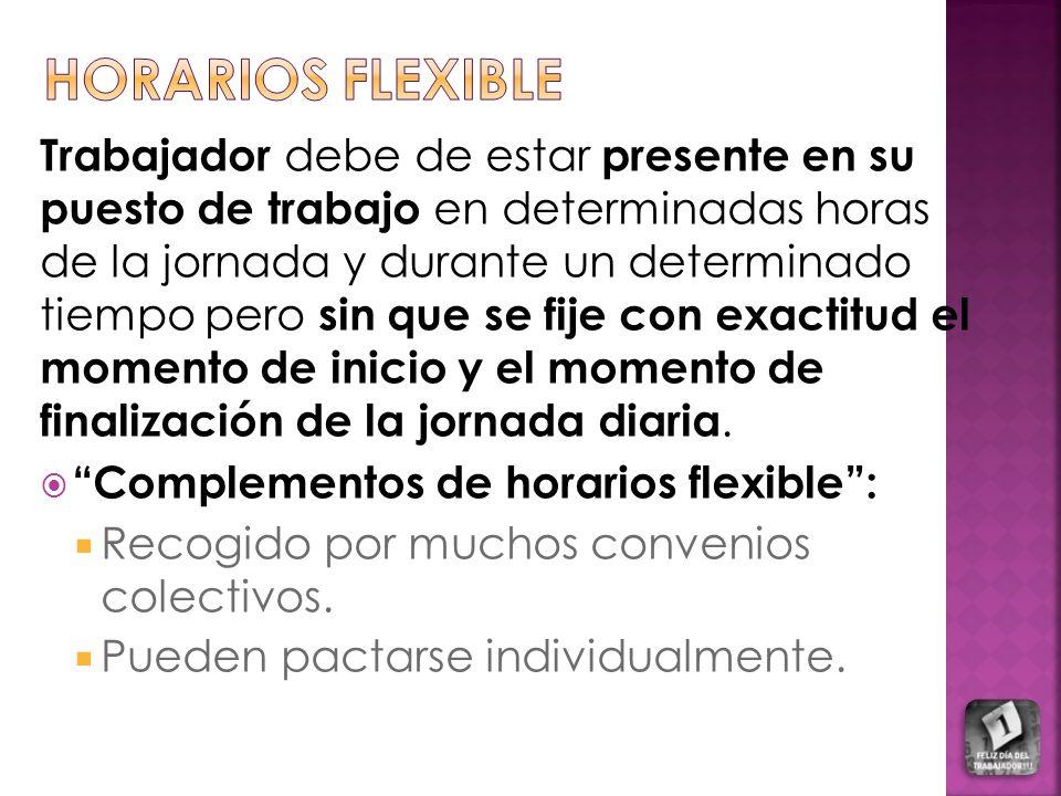HORARIOS FLEXIBLE