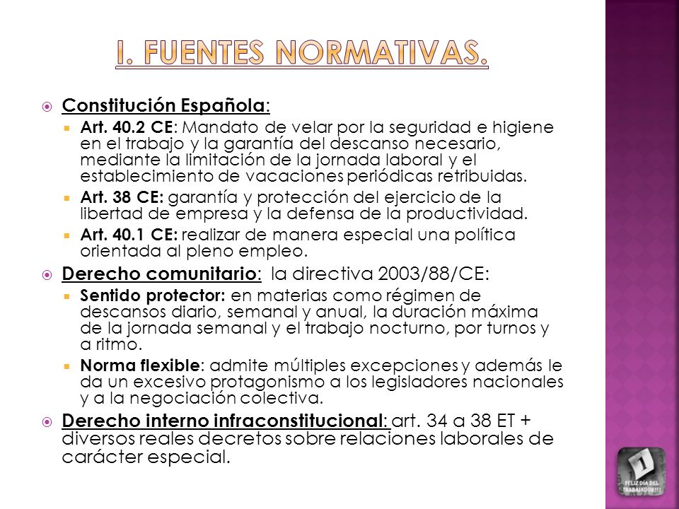 I. FUENTES NORMATIVAS. Constitución Española: