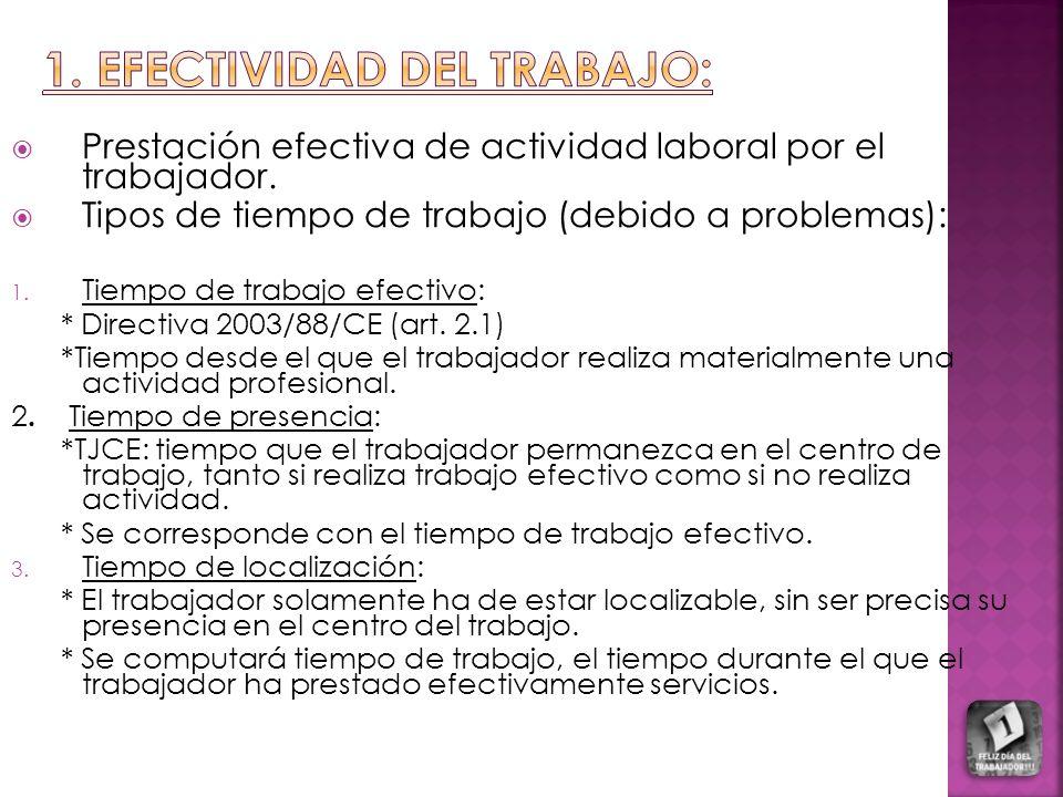 1. EFECTIVIDAD DEL TRABaJO: