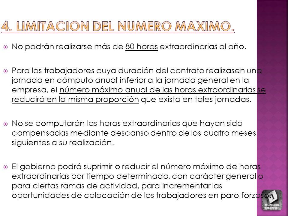 4. LIMITACION DEL NUMERO MAXIMO.