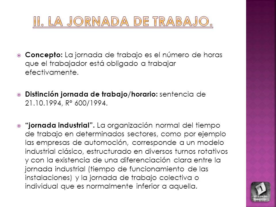 ii. LA JORNADA DE TRABAJO.