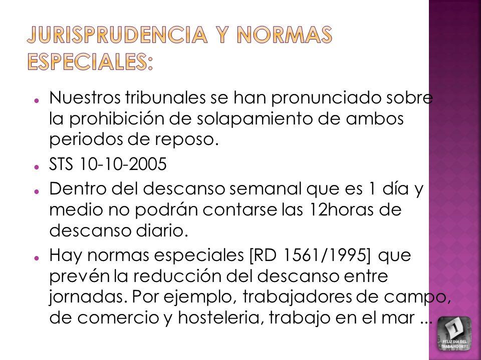 Jurisprudencia y normas especiales: