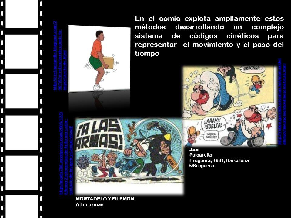 En el comic explota ampliamente estos métodos desarrollando un complejo sistema de códigos cinéticos para representar el movimiento y el paso del tiempo