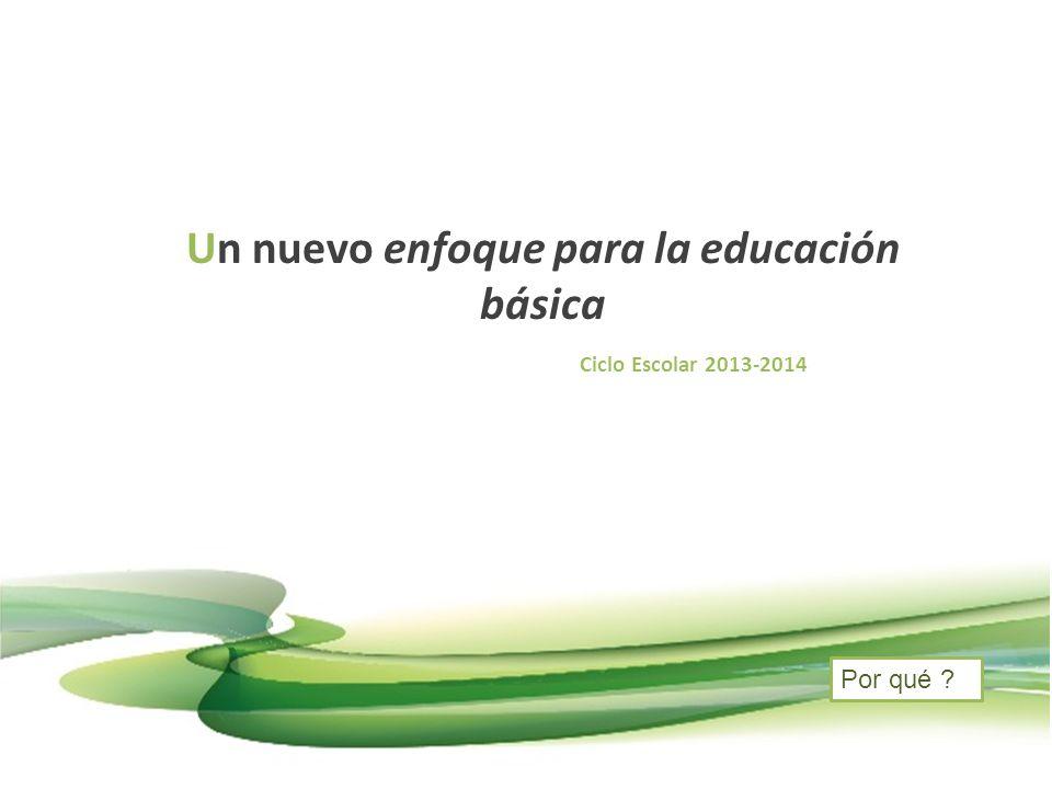 Un nuevo enfoque para la educación básica