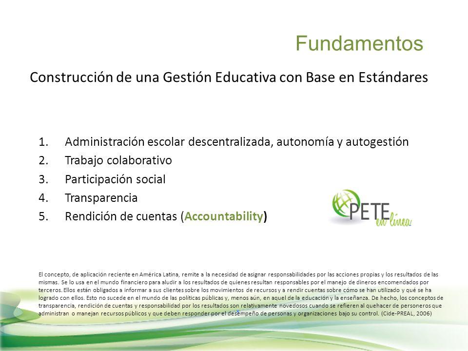 Construcción de una Gestión Educativa con Base en Estándares