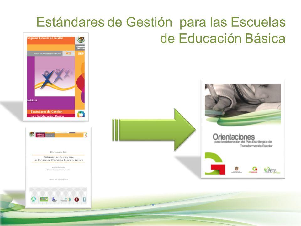 Estándares de Gestión para las Escuelas de Educación Básica