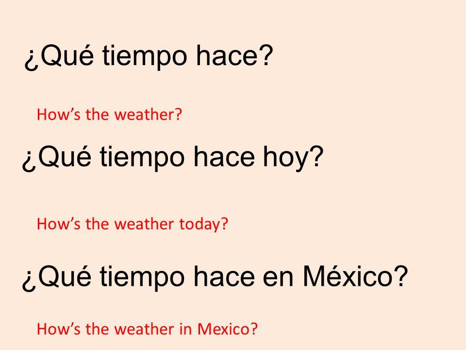 ¿Qué tiempo hace en México
