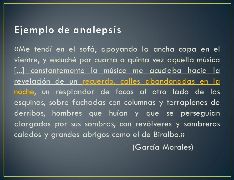 Ejemplo de analepsis