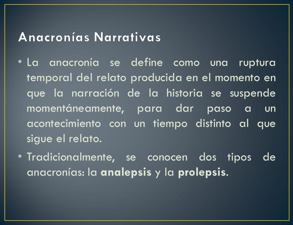 Anacronías Narrativas