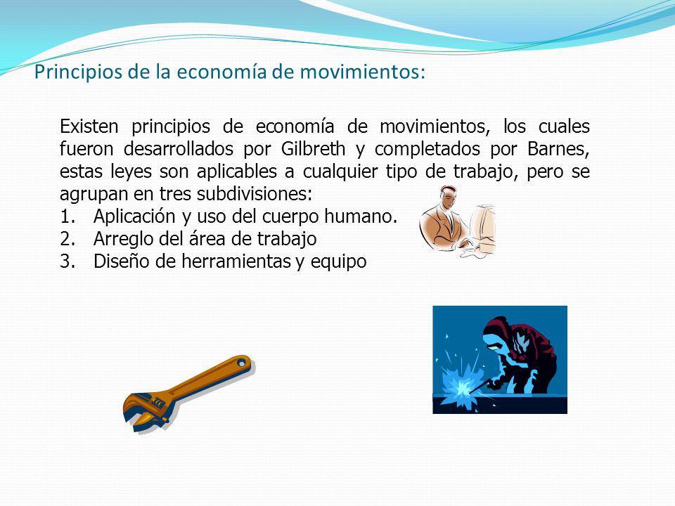 Principios de la economía de movimientos: