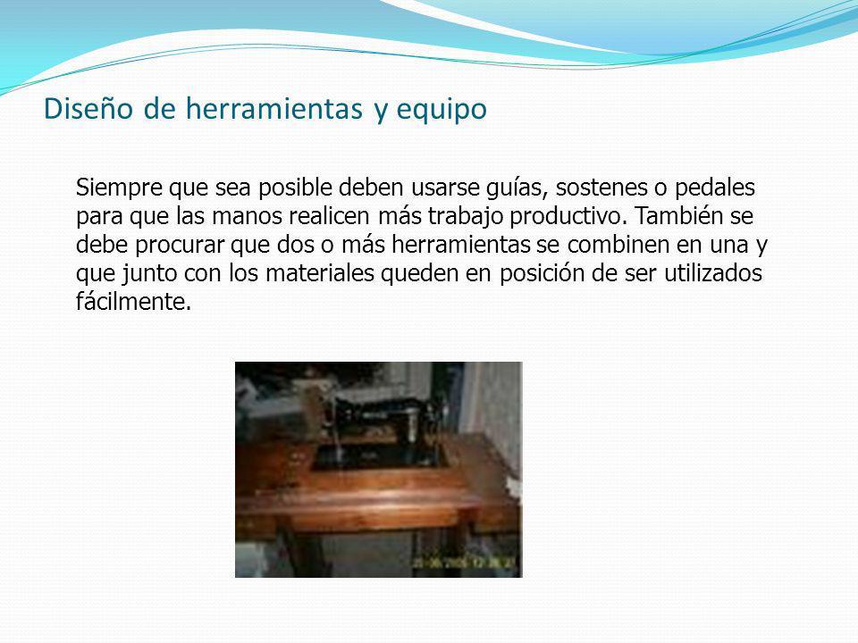 Diseño de herramientas y equipo