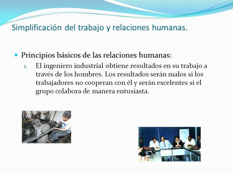 Simplificación del trabajo y relaciones humanas.