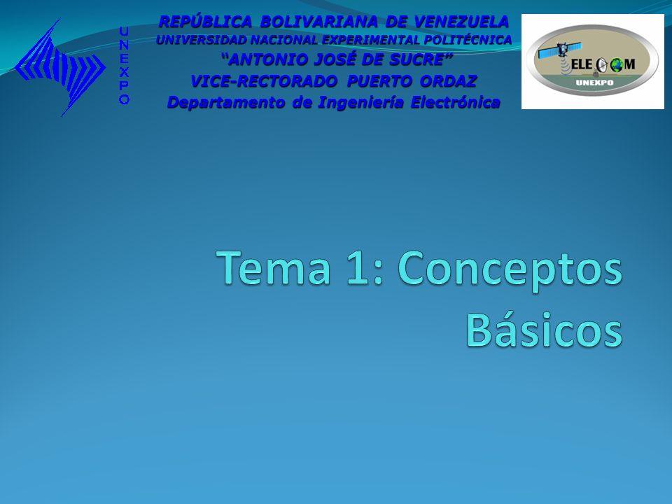 Tema 1: Conceptos Básicos