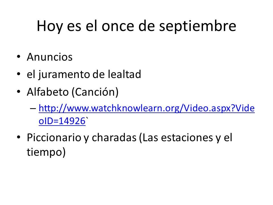 Hoy es el once de septiembre