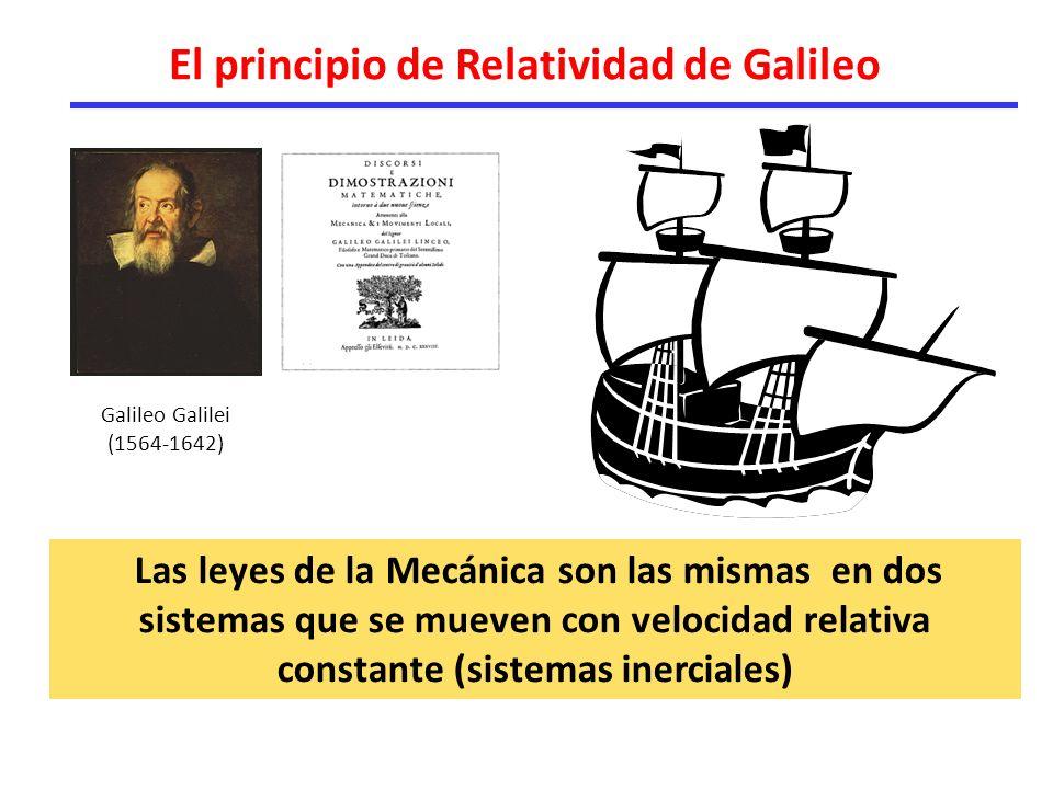 El principio de Relatividad de Galileo
