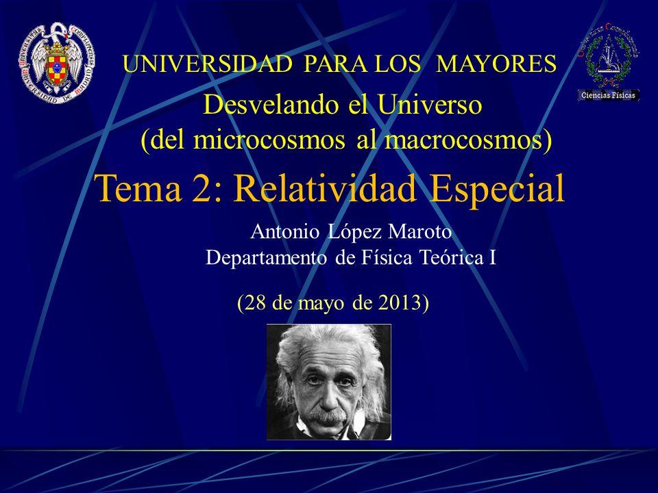 Tema 2: Relatividad Especial