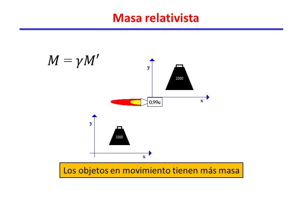 Los objetos en movimiento tienen más masa