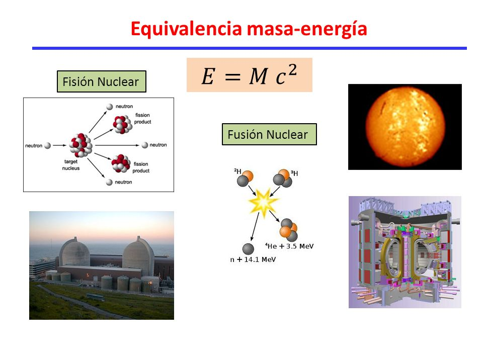 Equivalencia masa-energía