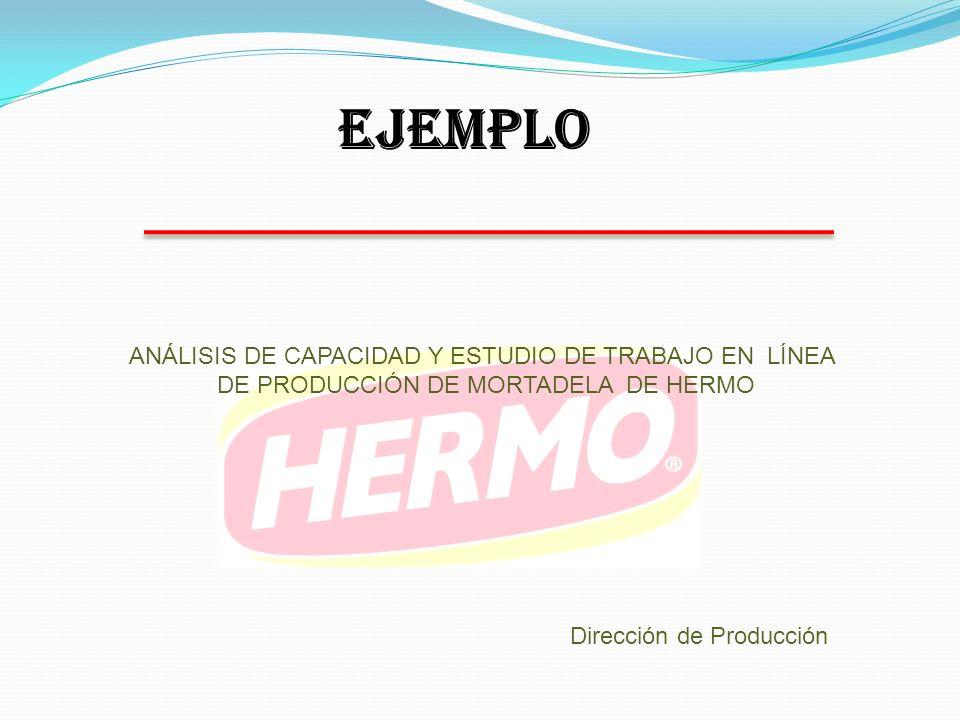EJEMPLO ANÁLISIS DE CAPACIDAD Y ESTUDIO DE TRABAJO EN LÍNEA