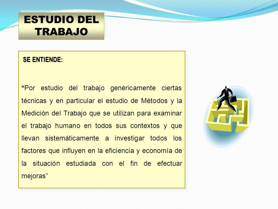 ESTUDIO DEL TRABAJO SE ENTIENDE: