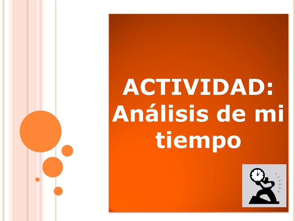 a) Análisis de tiempo Actividad
