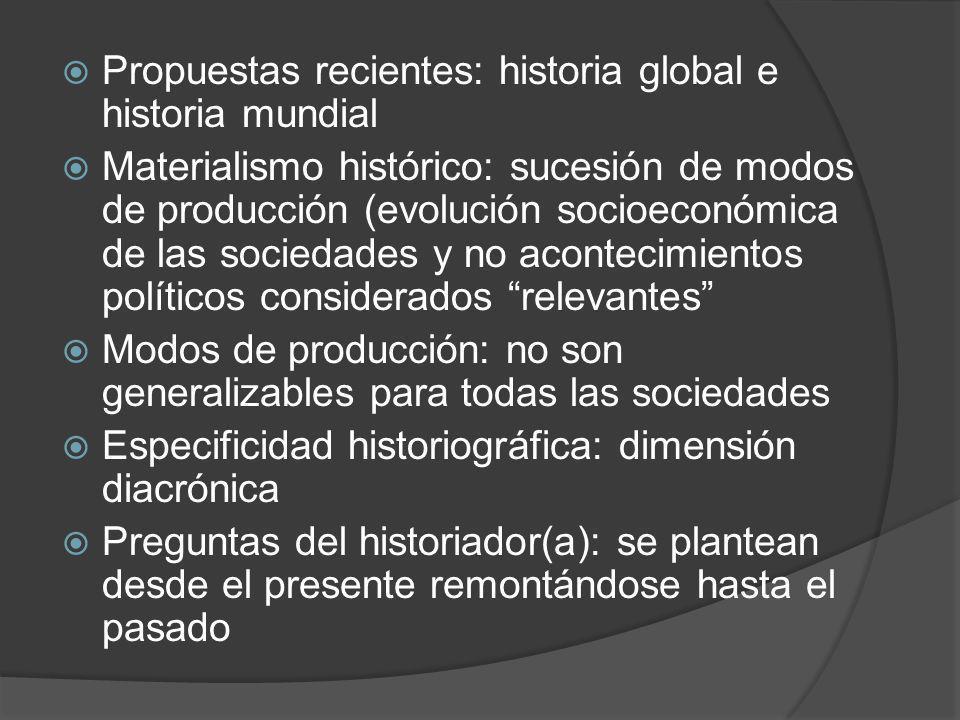 Propuestas recientes: historia global e historia mundial