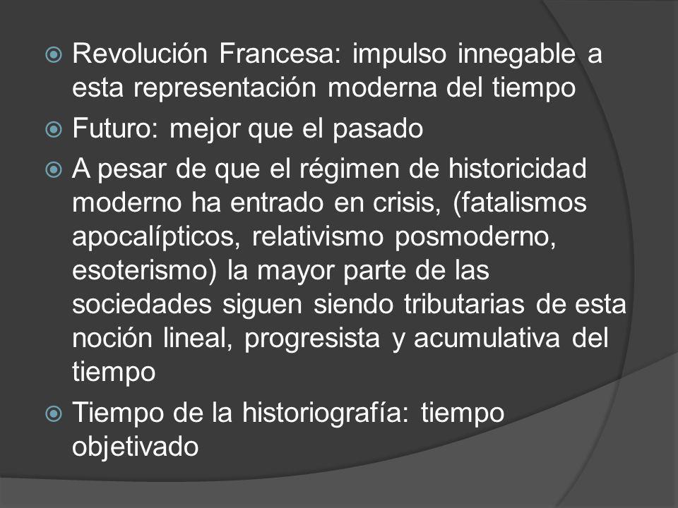 Revolución Francesa: impulso innegable a esta representación moderna del tiempo