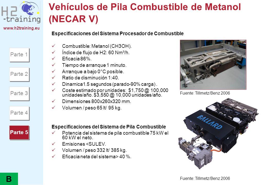 Vehículos de Pila Combustible de Metanol (NECAR V)