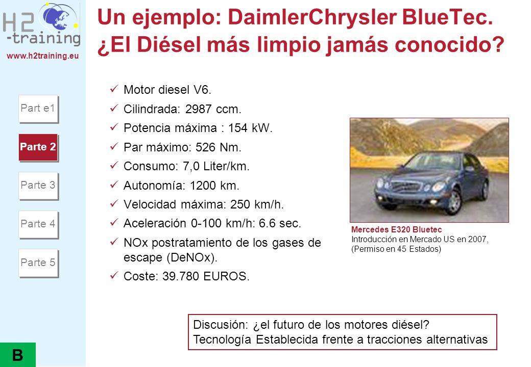 H2 Training Manual Un ejemplo: DaimlerChrysler BlueTec. ¿El Diésel más limpio jamás conocido Motor diesel V6.