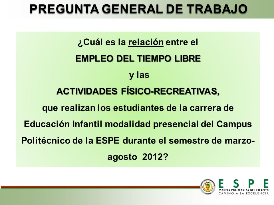 PREGUNTA GENERAL DE TRABAJO