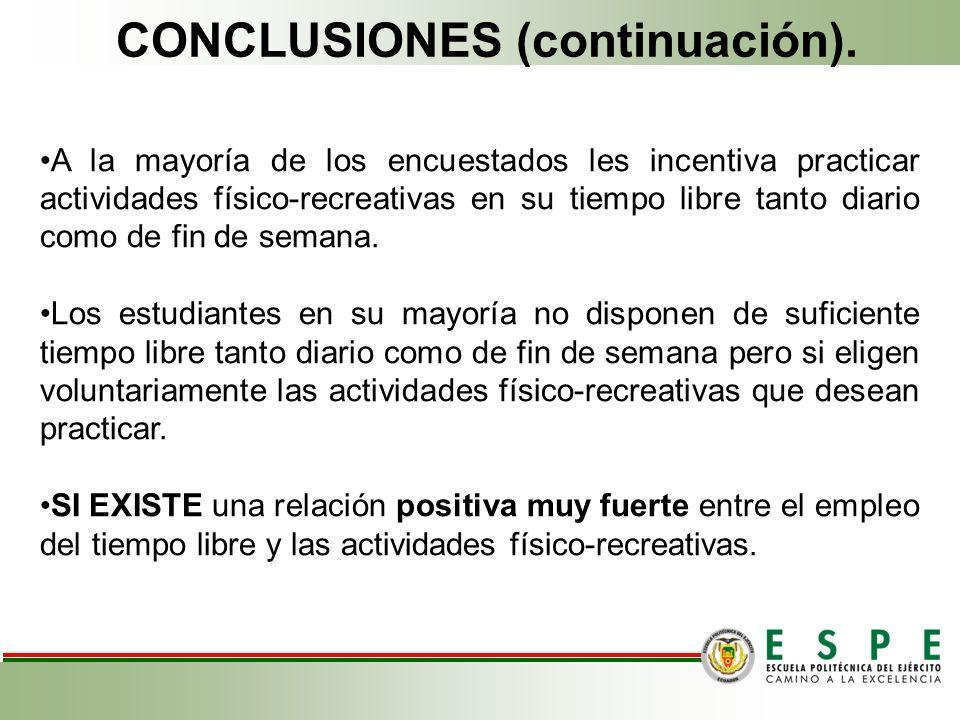 CONCLUSIONES (continuación).