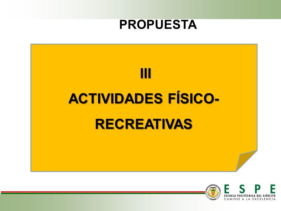ACTIVIDADES FÍSICO-RECREATIVAS