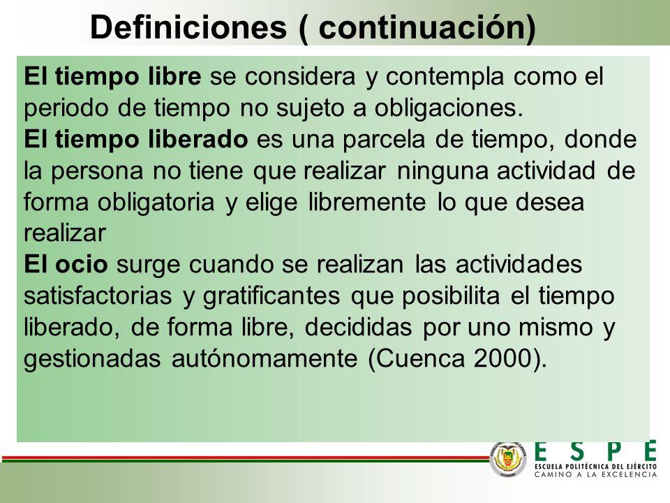 Definiciones ( continuación)