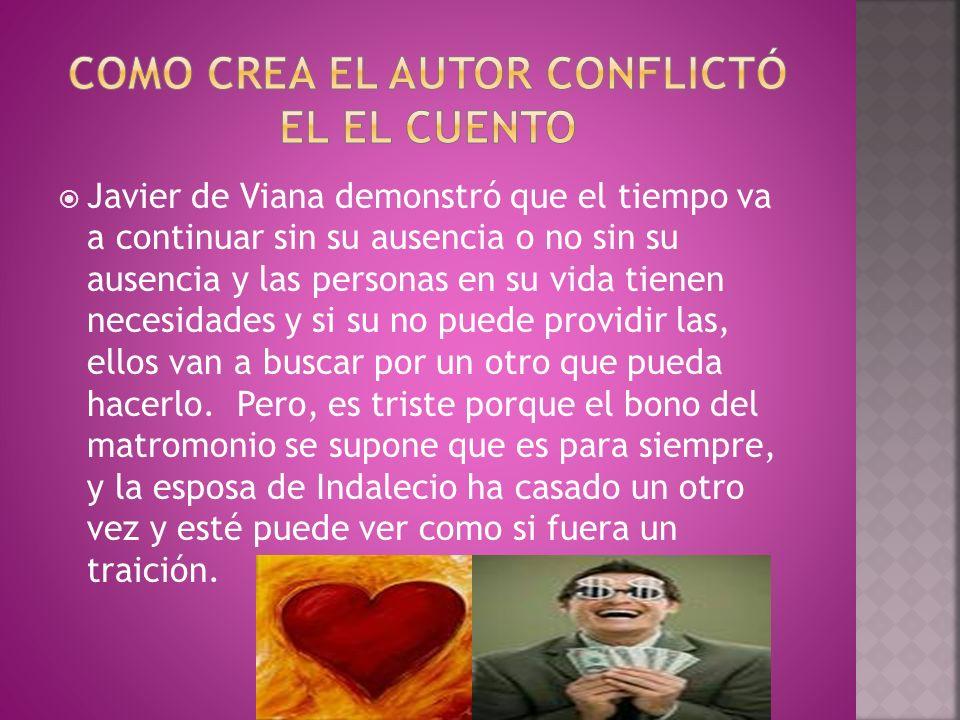 COMO CREA EL AUTOR CONFLICTÓ EL EL CUENTO