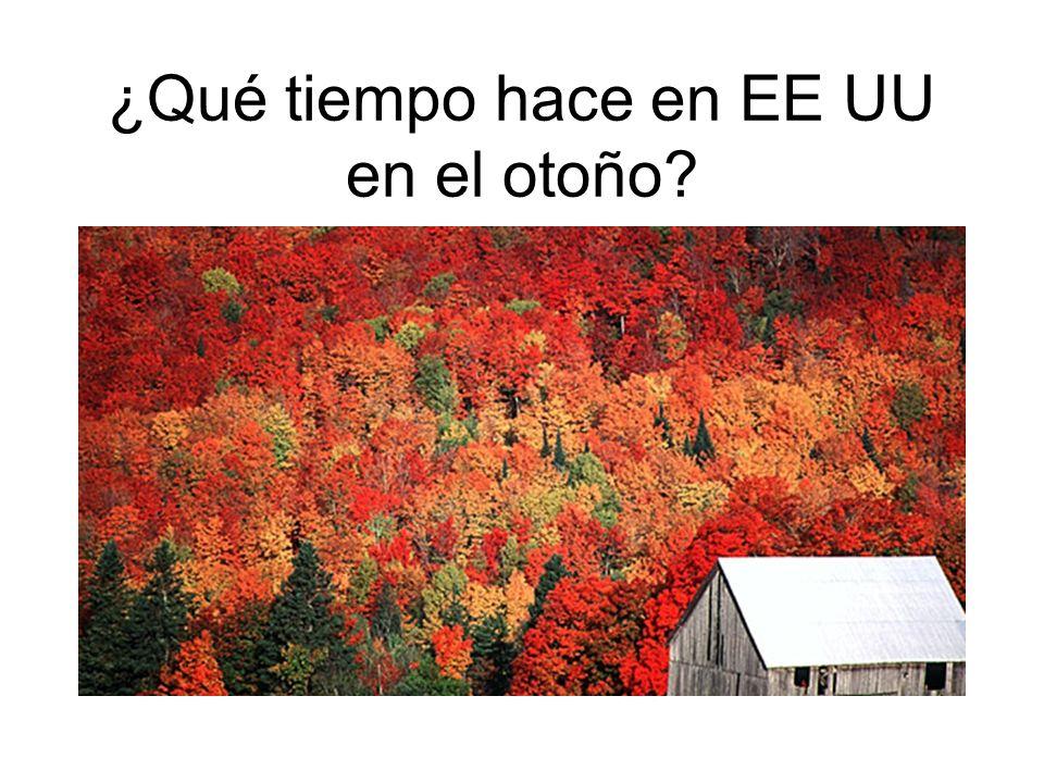 ¿Qué tiempo hace en EE UU en el otoño