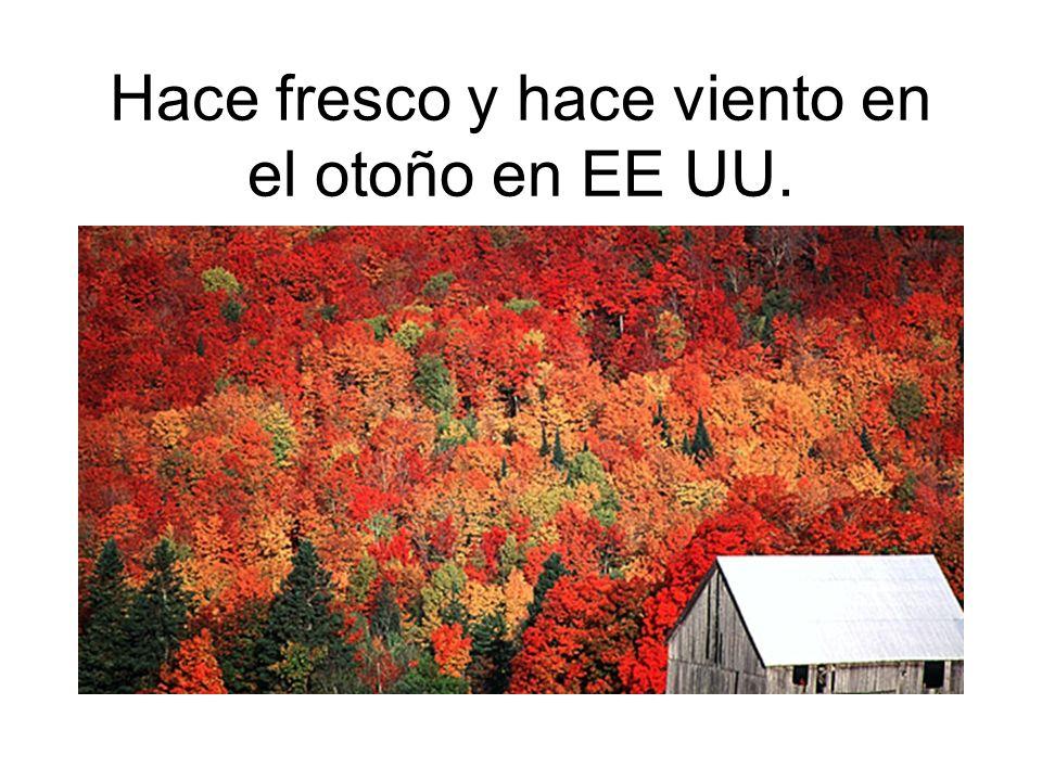 Hace fresco y hace viento en el otoño en EE UU.