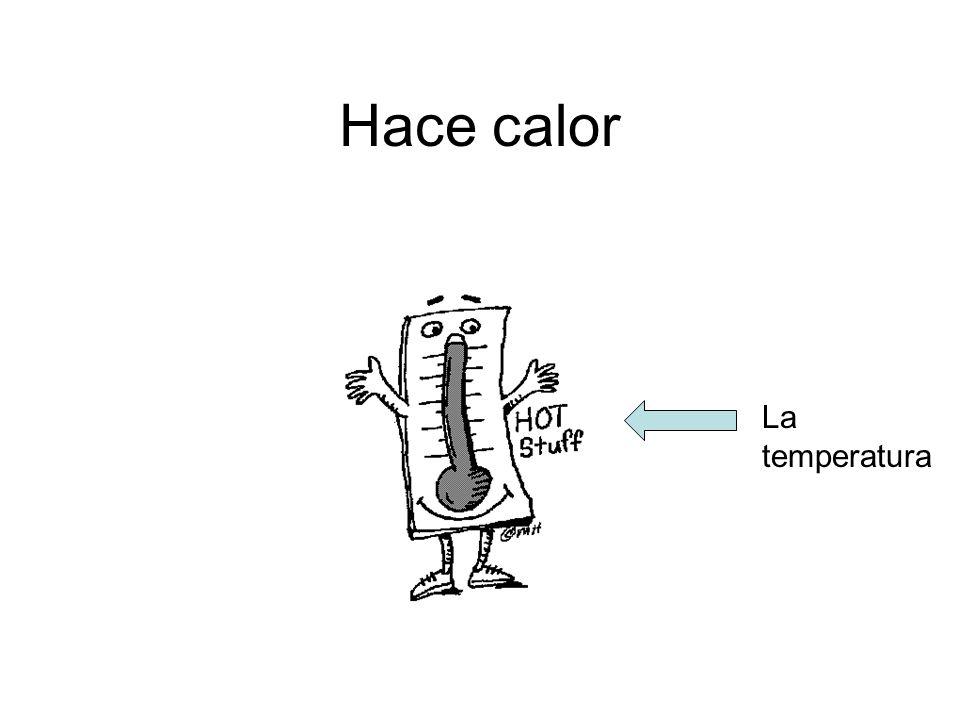 Hace calor La temperatura