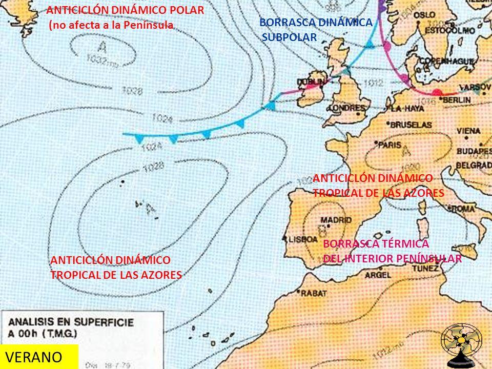 VERANO ANTICICLÓN DINÁMICO POLAR (no afecta a la Península