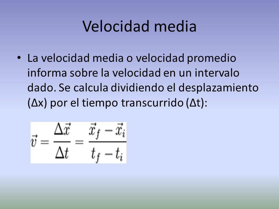 Velocidad media