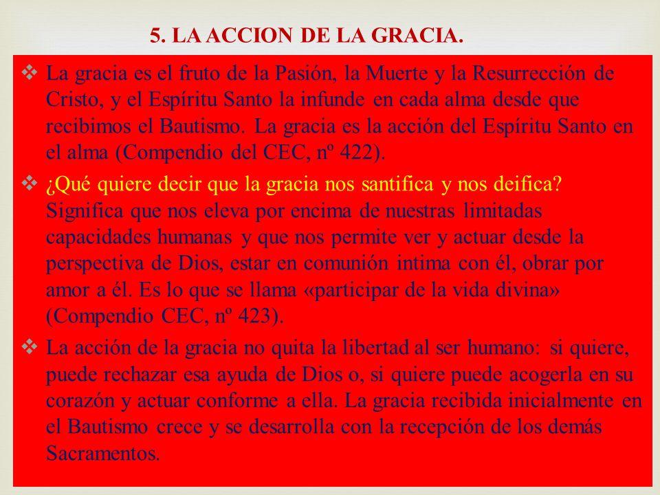 5. LA ACCION DE LA GRACIA.