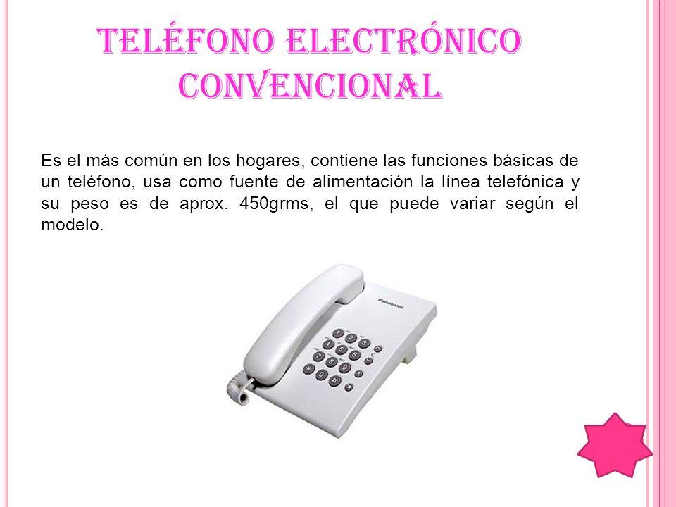 TELÉFONO ELECTRÓNICO CONVENCIONAL