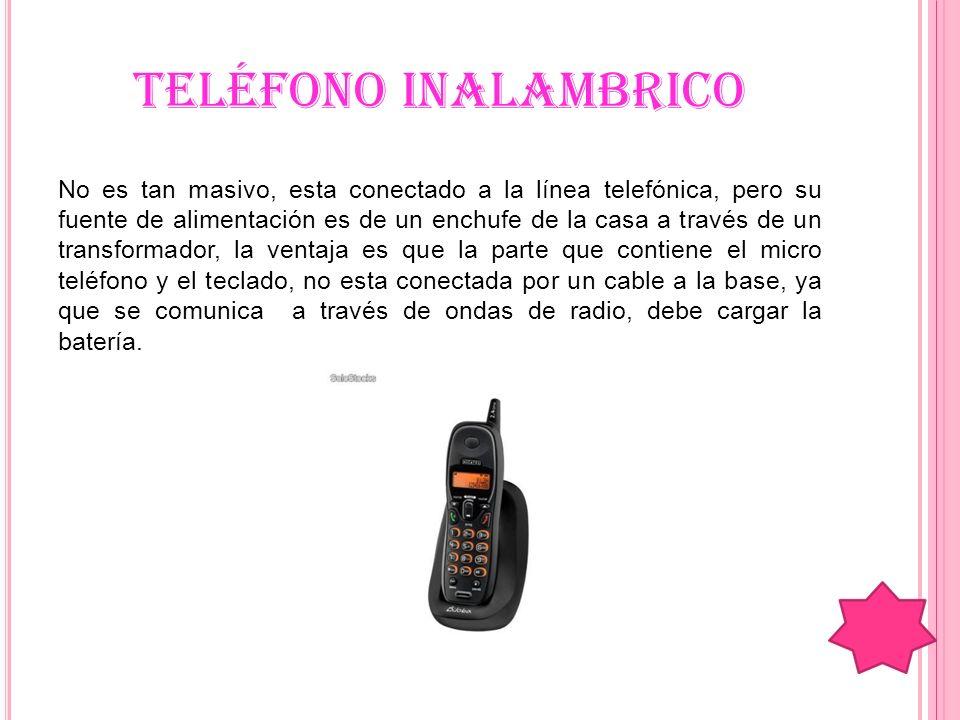 Exposici n n 4 el computador y sus perifericos el telefono celular el automovil mar a jos - Poner linea telefonica en casa ...