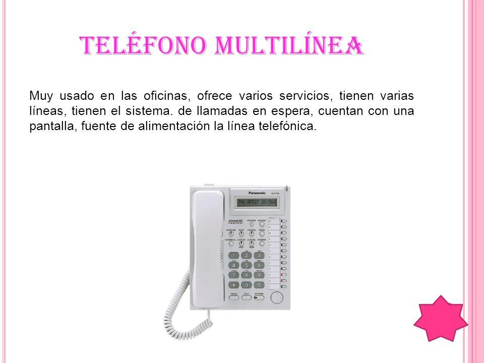 TELÉFONO MULTILÍNEA