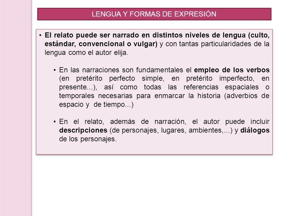 LENGUA Y FORMAS DE EXPRESIÓN