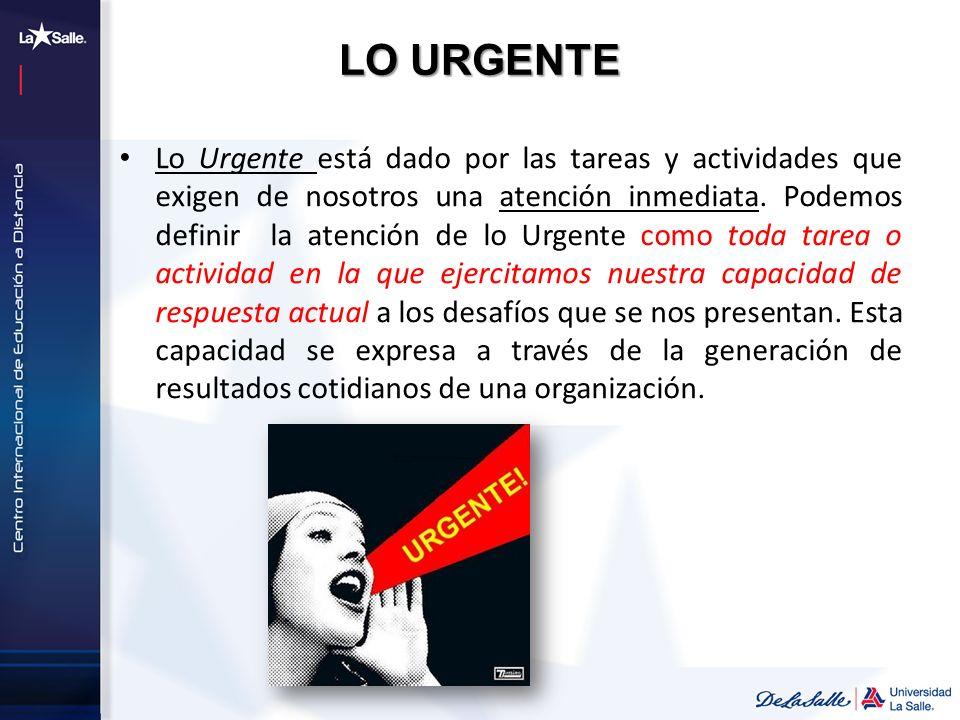 LO URGENTE